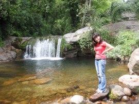 Una de las cascadas de Garganta la Olla